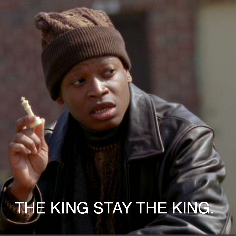 Image result for the king stay the king gif